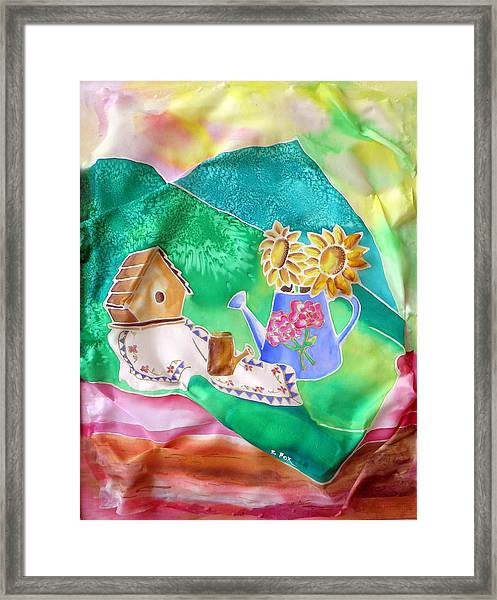 Silk Table Framed Print