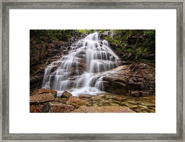Silky Veil Cloudland Falls Lincoln Nh Framed Print