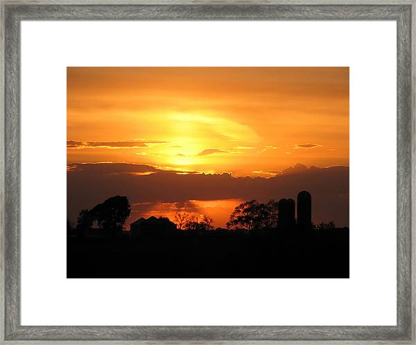 Silo Sunset Framed Print
