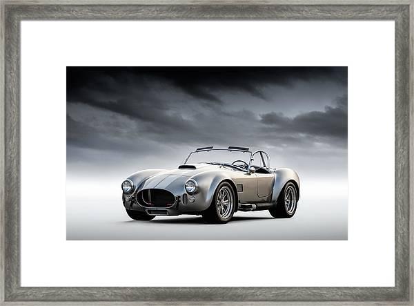 Silver Ac Cobra Framed Print
