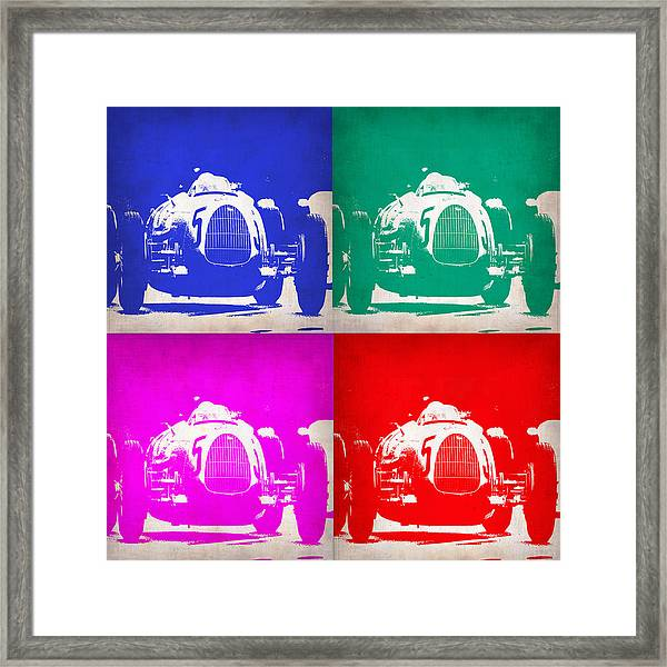 Silver Arrow Pop Art 1 Framed Print