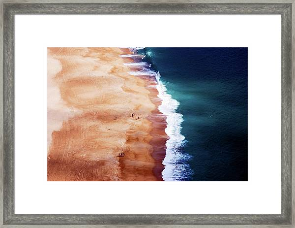Silver Coast Framed Print by Cbomersphotography