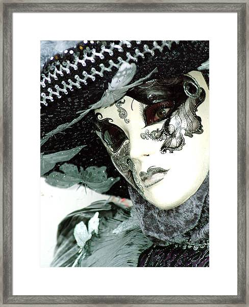 Silver Lacy Eyes Framed Print
