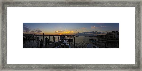 Silver Lake Sunset Panorama Framed Print