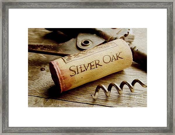 Silver Oak Cork Painting Framed Print