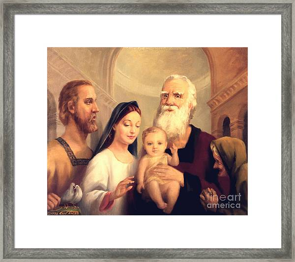 Simeon In The Temple Framed Print