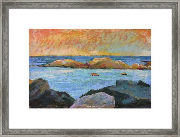 Simple Rock Landscape Framed Print