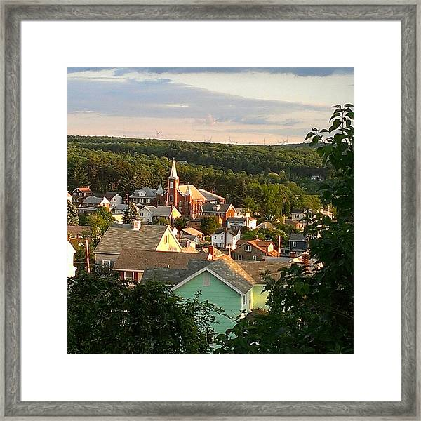 Simple Small Town Framed Print