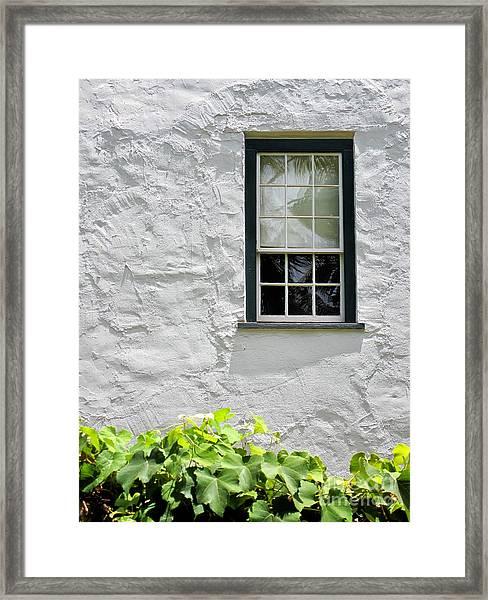 Simple Window Framed Print
