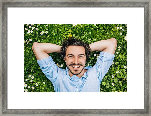 Simply Happy Framed Print by Pixelfit