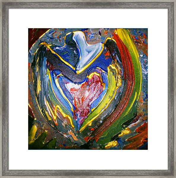 Framed Print featuring the painting Simply Love by Ray Khalife