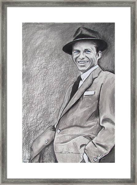 Sinatra - The Voice Framed Print
