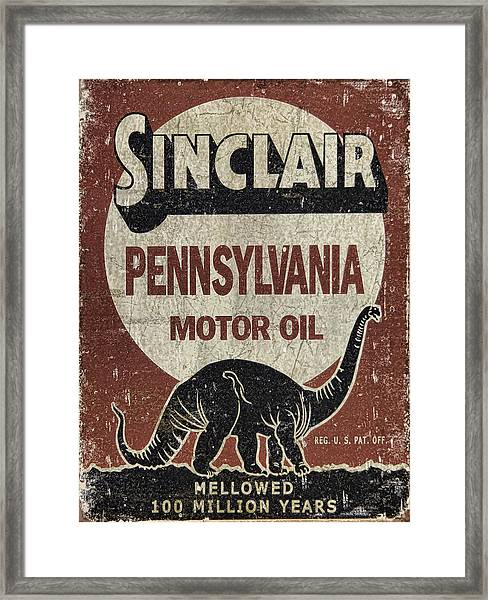 Sinclair Motor Oil Can Framed Print