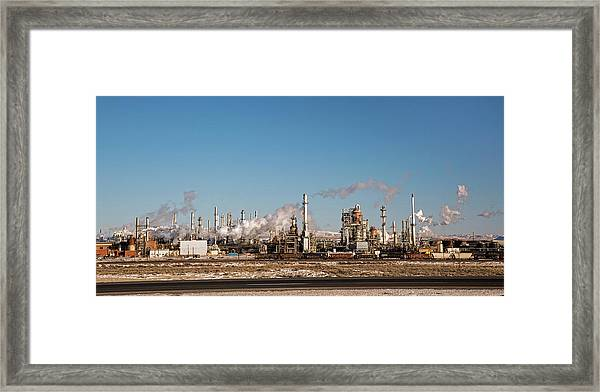 Sinclair Oil Refinery Framed Print