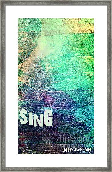 Sing Framed Print by Currie Silver