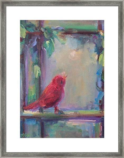 Sing Little Bird Framed Print