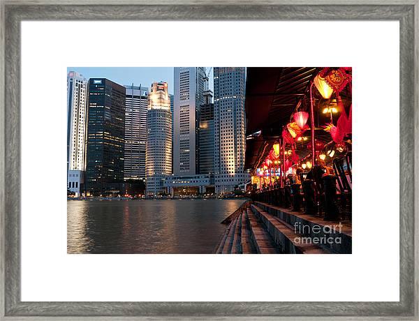 Singapore Boat Quay 02 Framed Print