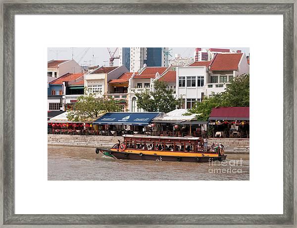 Singapore Boat Quay 04 Framed Print