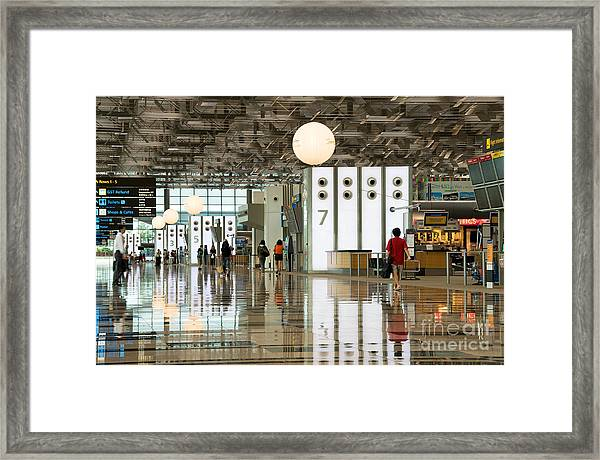 Singapore Changi Airport 02 Framed Print