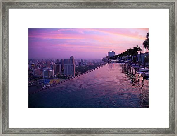 Singapore, Marina Bay Sands Hotel Framed Print by Jaynes Gallery