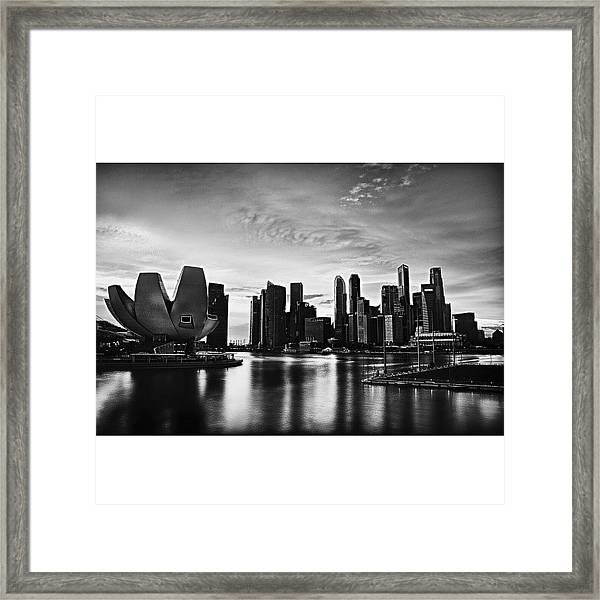 Singapore Marina Framed Print