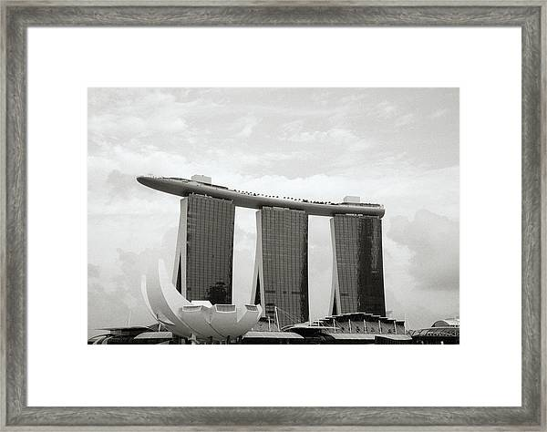 Singapore Skyline Framed Print