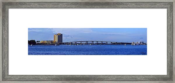 Singer Island Bridge Framed Print
