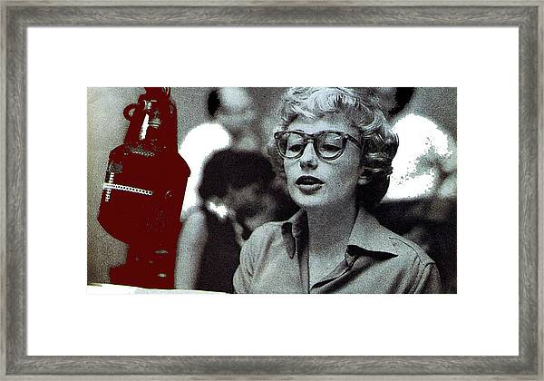Singer Pianist Blossom Dearie  No Known Date Framed Print