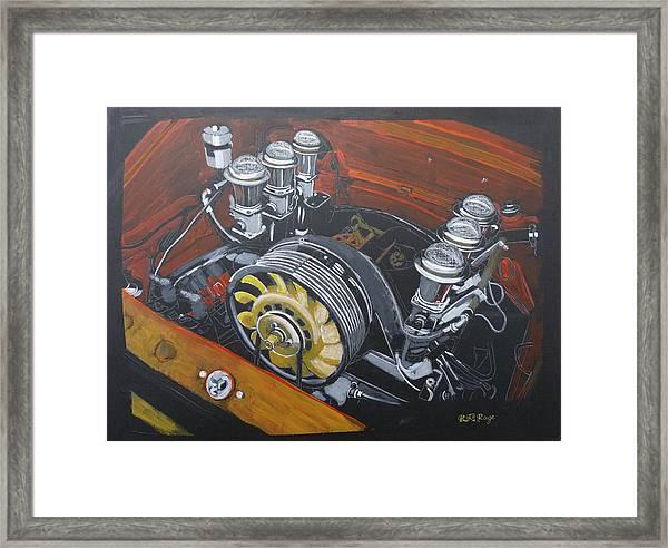 Singer Porsche Engine Framed Print