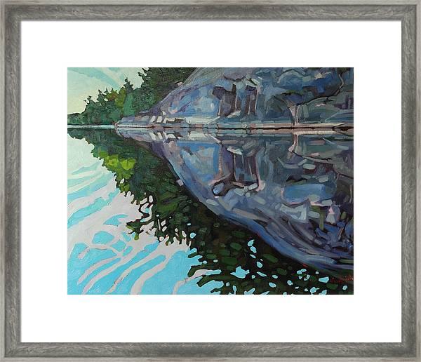 Singleton Marble Framed Print