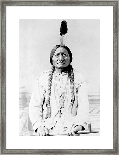 Sioux Chief Sitting Bull Framed Print