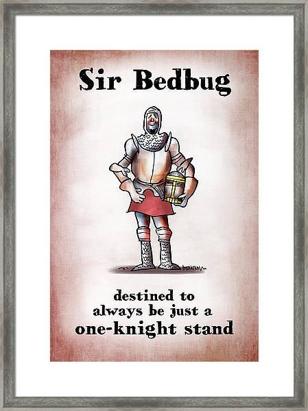 Sir Bedbug Framed Print
