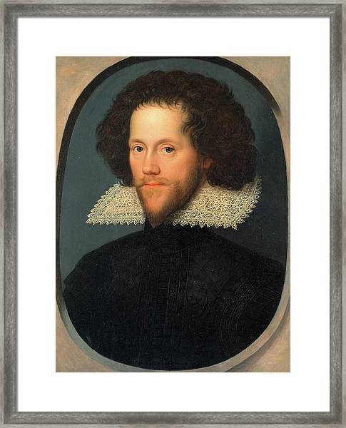 Sir William Pope, Attributed To William Larkin Framed Print by Litz Collection