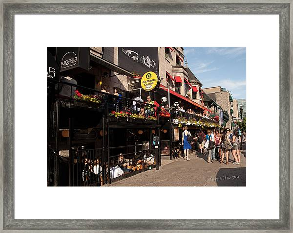 Sir Winston Churchill Pub On Rue De Crescent In Montreal Framed Print
