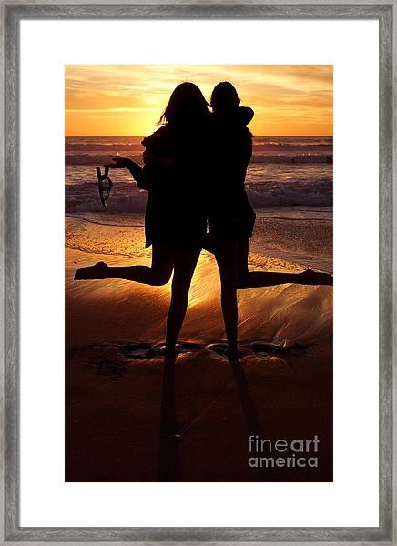 Sister Sunset Framed Print