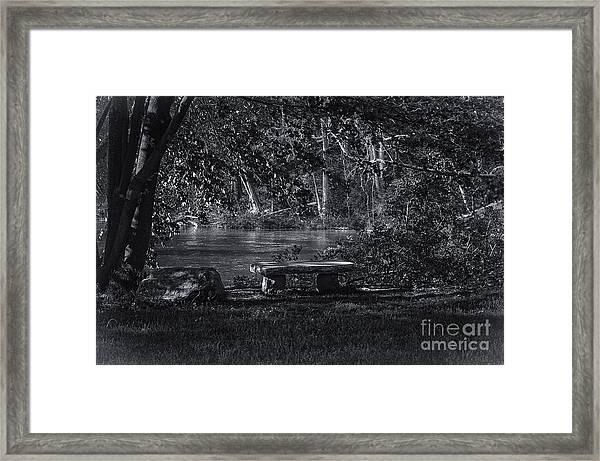 Sit And Ponder Framed Print