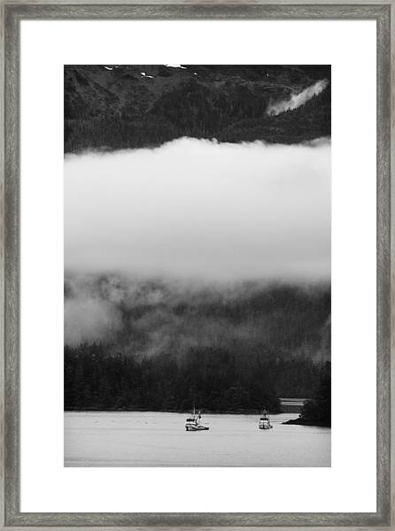 Sitka Fishing Boats Framed Print