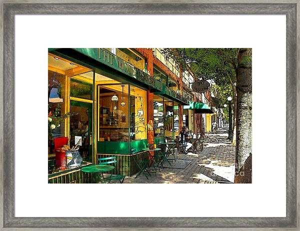 Sitting At The Bakery Framed Print