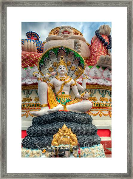 Sitting Buddhas Framed Print