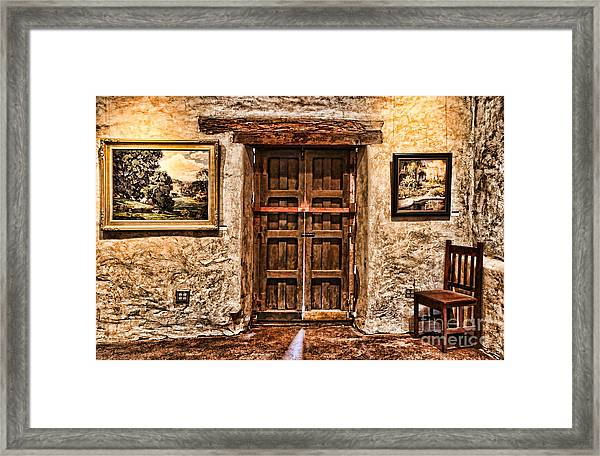 Sitting By The Door By Diana Sainz Framed Print