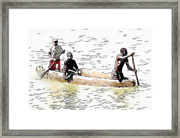 Sitting In The Boat Framed Print