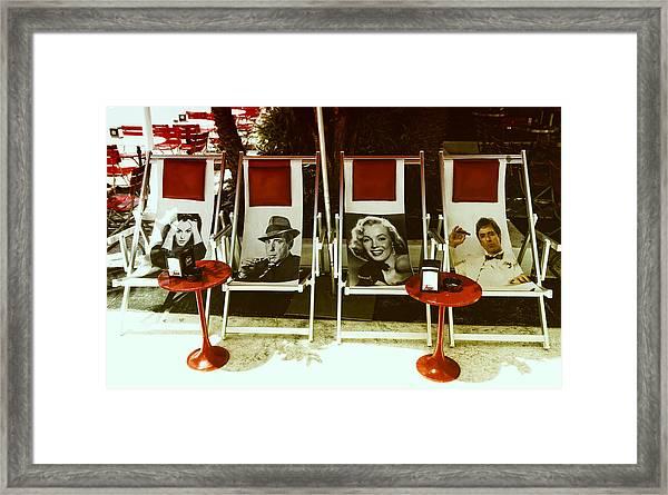 Sitting With Movie Stars Framed Print