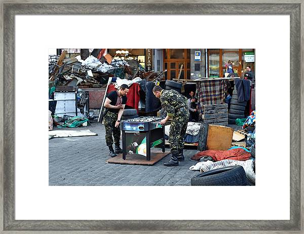 Situation In Ukraine Framed Print by Andriy Onufriyenko