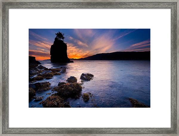 Siwash Rock Framed Print by Alexis Birkill