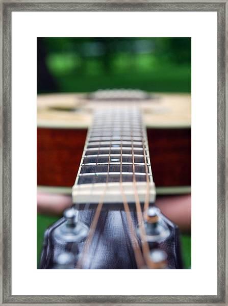 Six String Music Framed Print