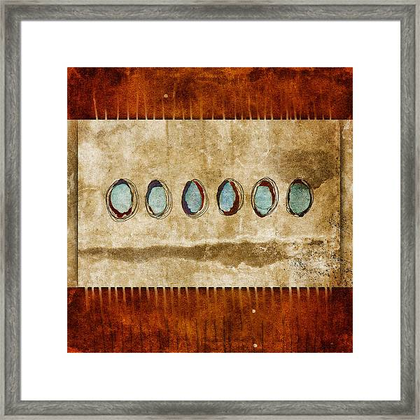 Six Turquoise Moons Framed Print