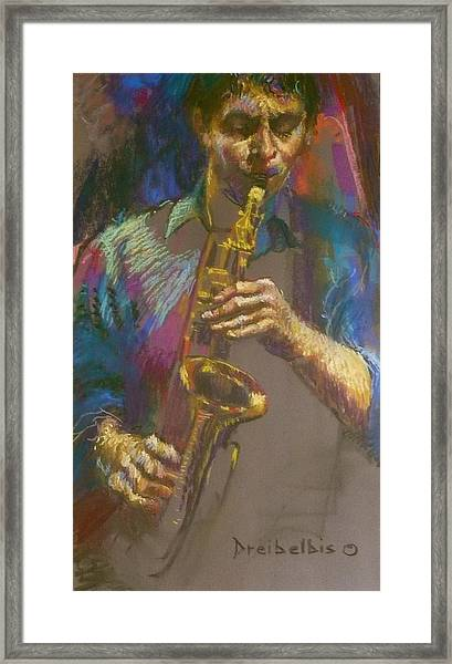 Sizzling Sax Framed Print