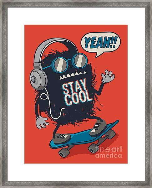 Skater Monster Framed Print