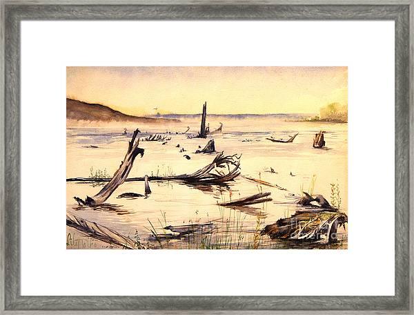 Skegemog Point Framed Print