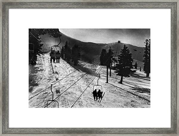 Ski Lifts At Squaw Valley In California Framed Print